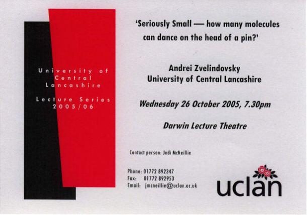 Lecture invitation