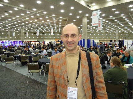 Andrei in APS exhibition hall