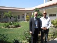 Together with Dr. Ali Dino (A.D) Jumani, Department Chairman