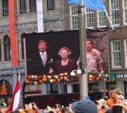 Singing the anthem
