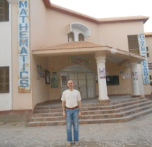 In front of the department building