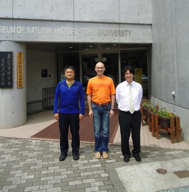 From left to right: Dr Takashi Honda, Andrei, Professor Toshihiro Kawakatsu.