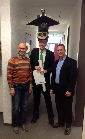 Andrei, Christian and his supervisor, Prof.Dr. Alexander Boker after the PhD defence.
