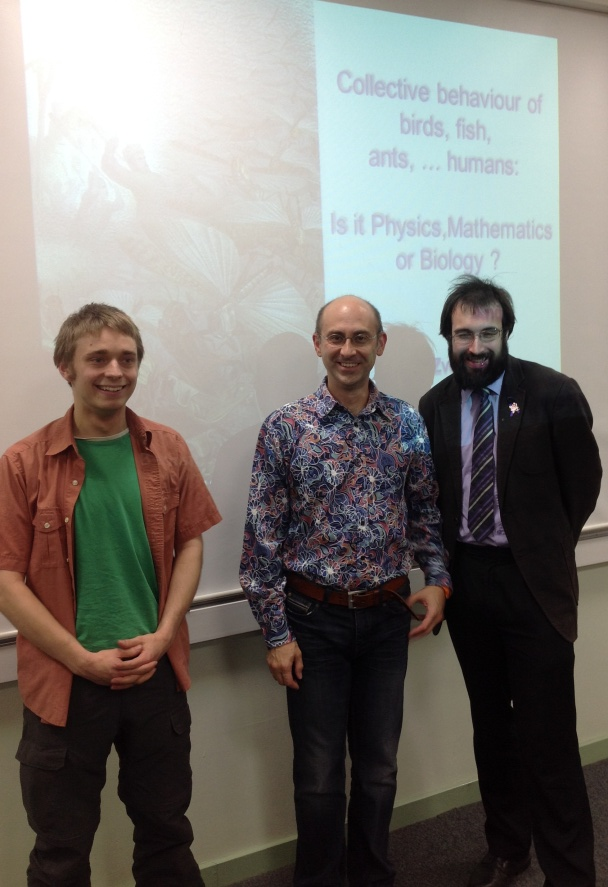 After the lecture with the Branch Chair Richard JL Hornby (right) and Tim Wiles, a Master student form Durham University (left).