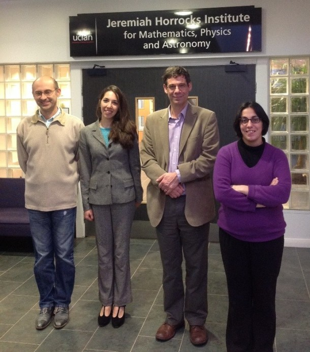 After the viva: left to right: Andrei, Marjan, Dr Steven Hayward (external), Manuela.