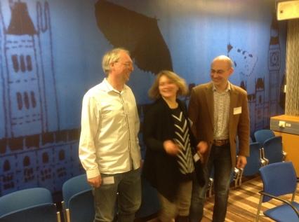 A dynamic collaboration (L-R): Agur Sevink (Leiden), Larisa Tsarkova (Moscow) and Andrei.