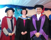 Fiona with Andrei and Prof Libby John, Head of the College of Science